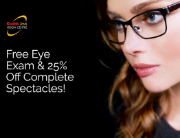 25% Off Spectacles Offer