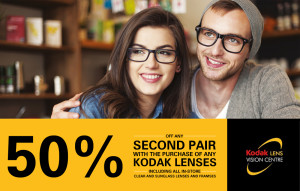 50% off any second pair of glasses!