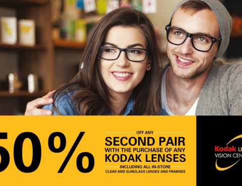 50% Off your Second Pair of Blink Opticians Glasses