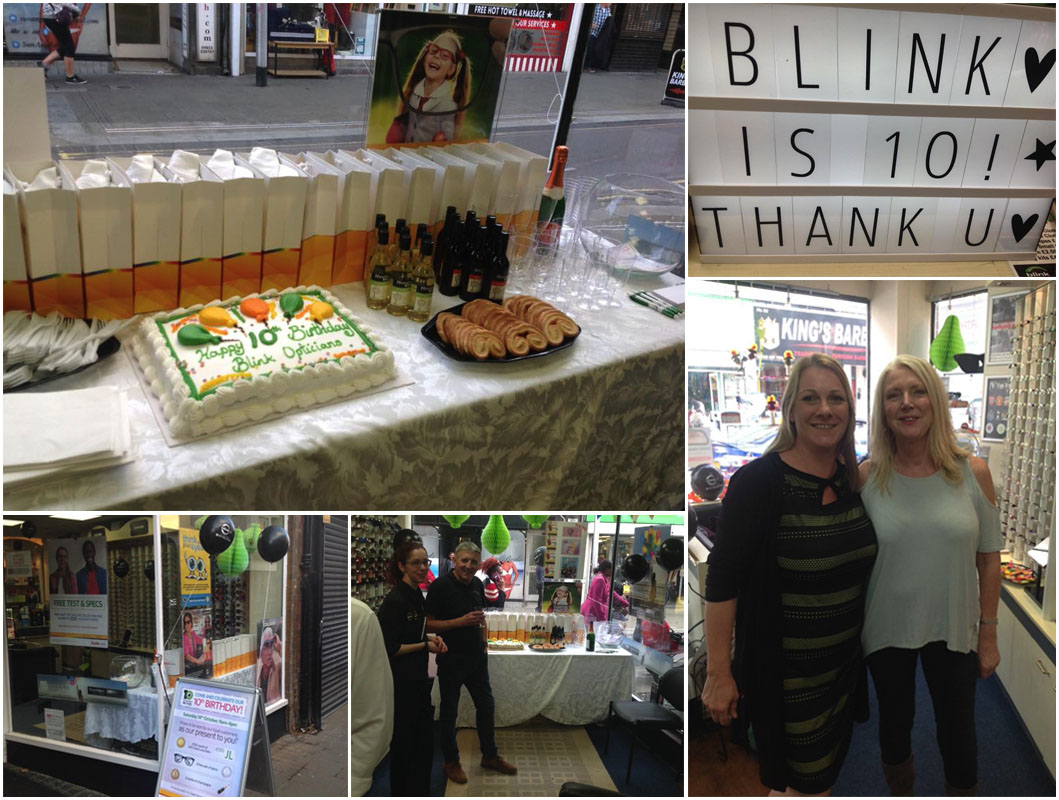 Blink Opticians 10 Year Anniversary